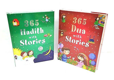 365 Dua and 365 Hadith With Stories - 2 Books Set (Hardback - Goodword Children)