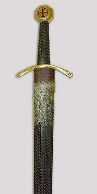 Medieval Masonic Knights Templar Crusader Mason's Sword with Scabbard