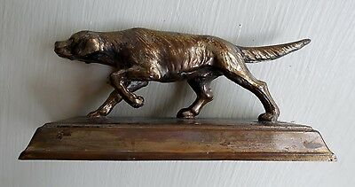Cast Brass Bird Dog Setter Pointer Figurine