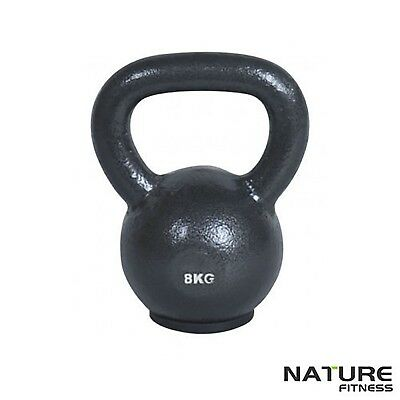 Nature Fitness 8kg Russian Classic Steel Kettlebell Home & Gym Training - New