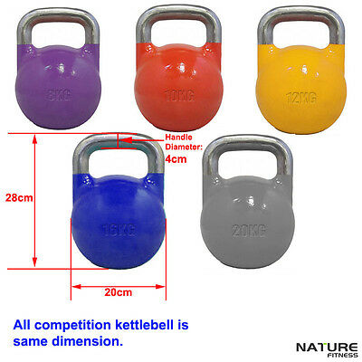 Nature Fitness Kettlebell 8kg Competition Weight Training Workout Strength - New
