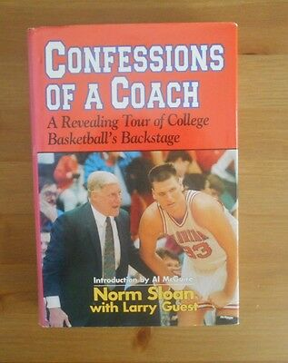 signed NORM SLOAN AUTOBIOGRAPHY BOOK COACH FLORIDA NC STATE BASKETBALL
