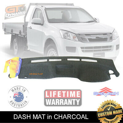 DASH MAT ISUZU D-MAX ES SX with COIN TRAY 06/2012-2017 DMAX CHARCOAL DM1314