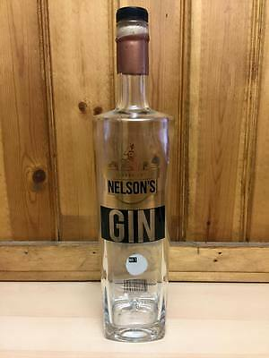 Rare Collectable Empty Nelsons Gin No.7 Bottle -Upcycle Craft Display Breweriana