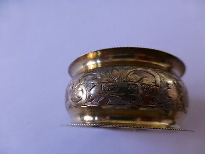 Silver Napkin Ring - Hand Engrave Hallmarked - J & R Griffiths ( i think