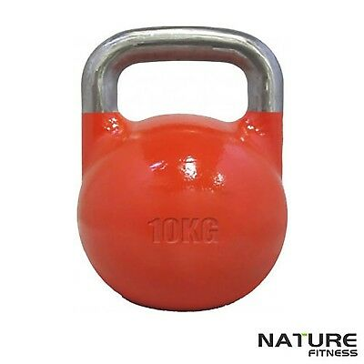 Nature Fitness 10kg Competition Kettlebell for Gym and Home Training Workout