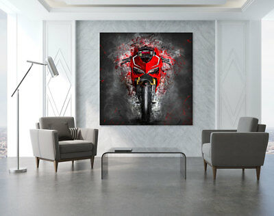 leinwand bild ducati panigale v4 modern abstrakt poster xxl wandbild kunstdruck eur 69 00. Black Bedroom Furniture Sets. Home Design Ideas