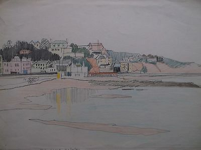 COLOURED GRAPHITE DRAWING by FREDERICK GEORGE WILLS 1901-1993 R.I. DAWLISH