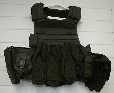 MSA PARACLETE PERSONAL BODY ARMOUR TACTICAL VEST WITH MOLLE - Medium , Military