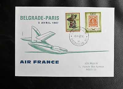 Vol Air France Belgrade - Paris / 5 Avril 1967 - Tbe