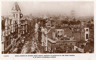 London - Royal Courts of Justice, Fleet Street- Real Photo Postcard Franked 1934