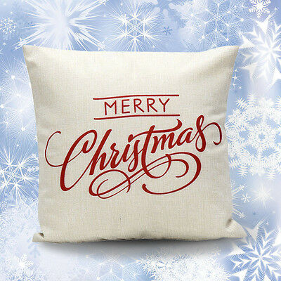 Vintage Christmas Sofa Bed Home Decoration Festival Pillow Case Cushion Cover