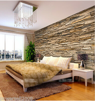 WP European Classical Murals Bedroom Background Stone Wallpaper Custom Made