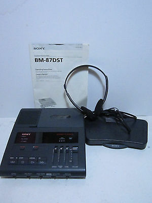 Sony Bm87Dst Dictator/transcriber Machine With Foot Pedal And Ac Adapter