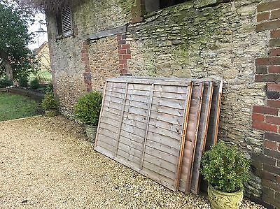 4 X Fence Panels 6' Wide X 4' High - Used