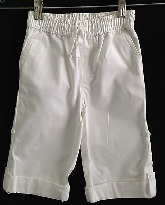 Janie + Jack White Adjustable Length Cotton Chinos - Size 18 - 24 Months  NEW!!