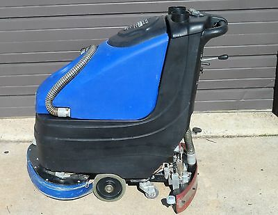 Pacific Z210 Walk Behind Floor Scrubber & Charger (Bad Batteries)  (Used)