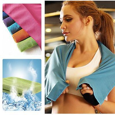 Universal Colorful Ice Towel Cold Running Jogging Chilly Instant Sport Tool