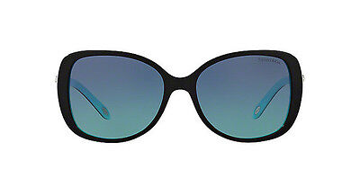 NWT TIFFANY & CO Sunglasses TF 4121B 80559S Black Blue / Gradient Blue 55 mm NIB