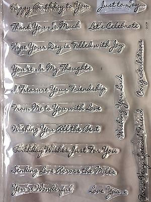 Lili Of The Valley Handwritten Phrases Clear Stamp Set