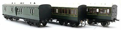 3 Assorted Oo Gauge Kit Built Southern Railway Coaches 4X