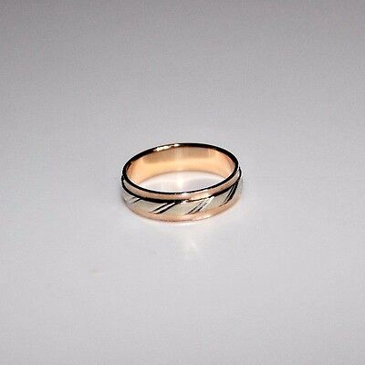 585 Russian Rose and White Gold 14k Ring