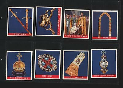 cigarette cards coronation of their majesties 1937 full set