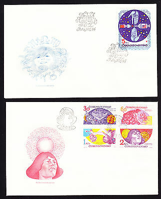 Czechoslovakia Czech CZ Cooperation in Space Research 2 FDC First Day Cover 1975
