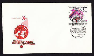 Czechoslovakia Intersputnik Space Cooperation First Day Cover FDC 1971 FDC Czech
