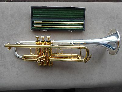 2016 Thein Bb MH One trumpet with Marcus Bonna leather case and 4 leadpipes.