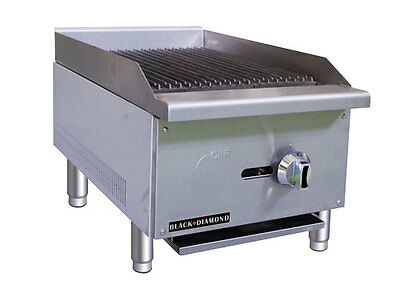 "Commercial 16"" Gas Radiant Charbroiler NAT or LP"