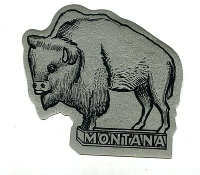 Vintage Label MONTANA Bison Buffalo 1940 Boosters Club