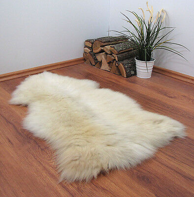"GENUINE 100% NATURAL SHEEPSKIN RUG 39x24"" FUR PET BED #22678"