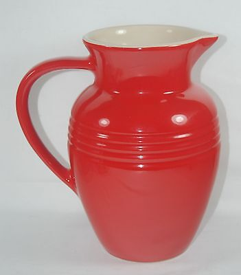Wonderful Large Le Creuset Stoneware Cherry Red Pitcher
