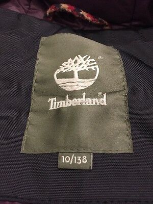 Timberland Parka Coat Kids Age Ten Excellent Condition Quilted Lining