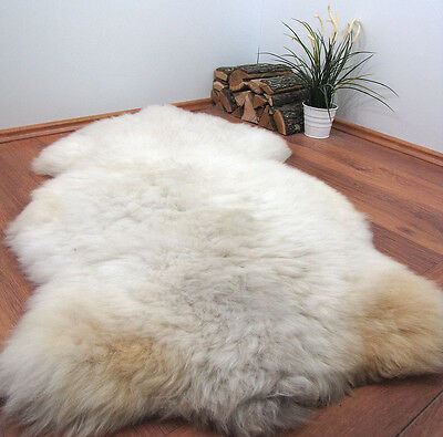 "GENUINE 100% NATURAL XXL SHEEPSKIN RUG 57x31"" FUR PET BED #22723"