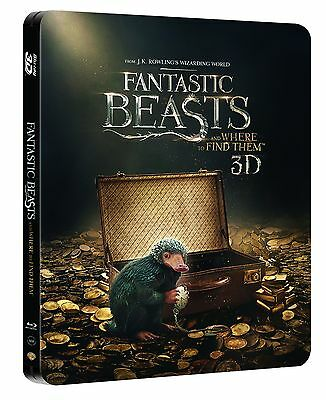 Fantastic Beasts and Where to Find Them (STEELBOOK)(Blu-ray 3D+Blu-ray+Digital)