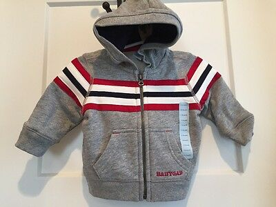 Baby Gap Boys Sweatshirt Jacket Sz 3-6 Months NEW NWT Gray