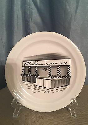 People's Drug Store Arbor Room Coffee Shop Plate Made In USA Melamine RARE