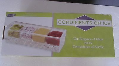 Condiments On Ice-The Elegance Of Glass With The Convenience Of Acrylic -New