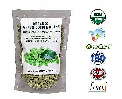 Perennial Lifesciences Organic Decaffeinated Green Coffee Beans For Weight Loss