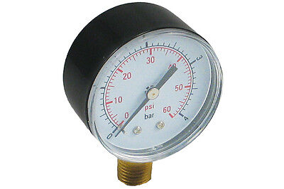 6 Pack of Pressure Gauge 0-60 PSI for Pentair and Hayward pool filters