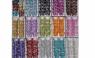 Butterfly  Jewelled Mesh Clip On Butterflies 8cm Wedding / Home Craft Decoration