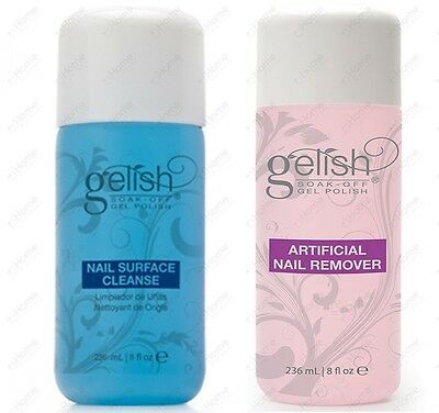 Harmony Gelish Nail Surface Cleanse / Artificial Nail Remover 236ml Gel Polish