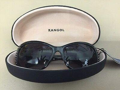 Ladies Kangol Black framed sunglasses with case BNWT