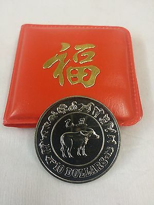 Singapore 1985 Ten Dollars Coin Year of the Ox