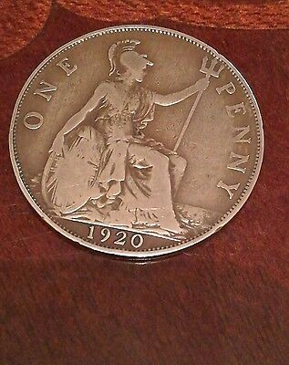 One Penny 1920 british coin