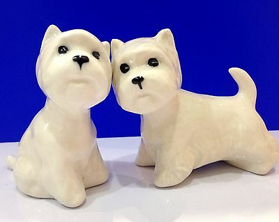 West Highland White Terrier porcelain figurines Souvenir Russia dogs collection