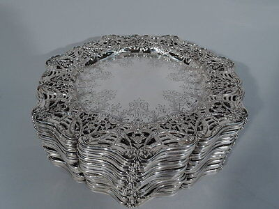 Black, Starr & Frost Plates - 59/3557 - Set of 18 - American Sterling Silver