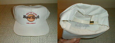 Hard rock cafe orlando ball cap leather strap back save the planet white hat